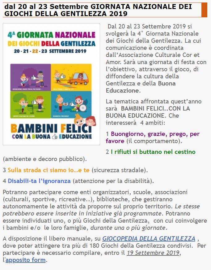 4^ GIORNATA GIOCHI DELLA GENTILEZZA